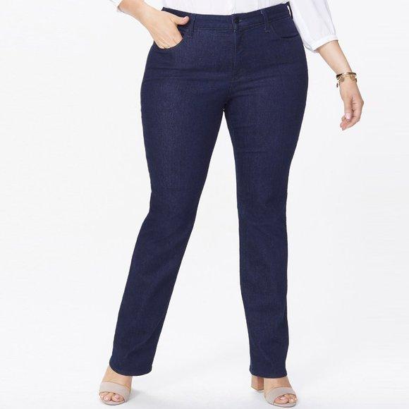 "NYDJ Marilyn Straight Jeans 28"" Inseam"